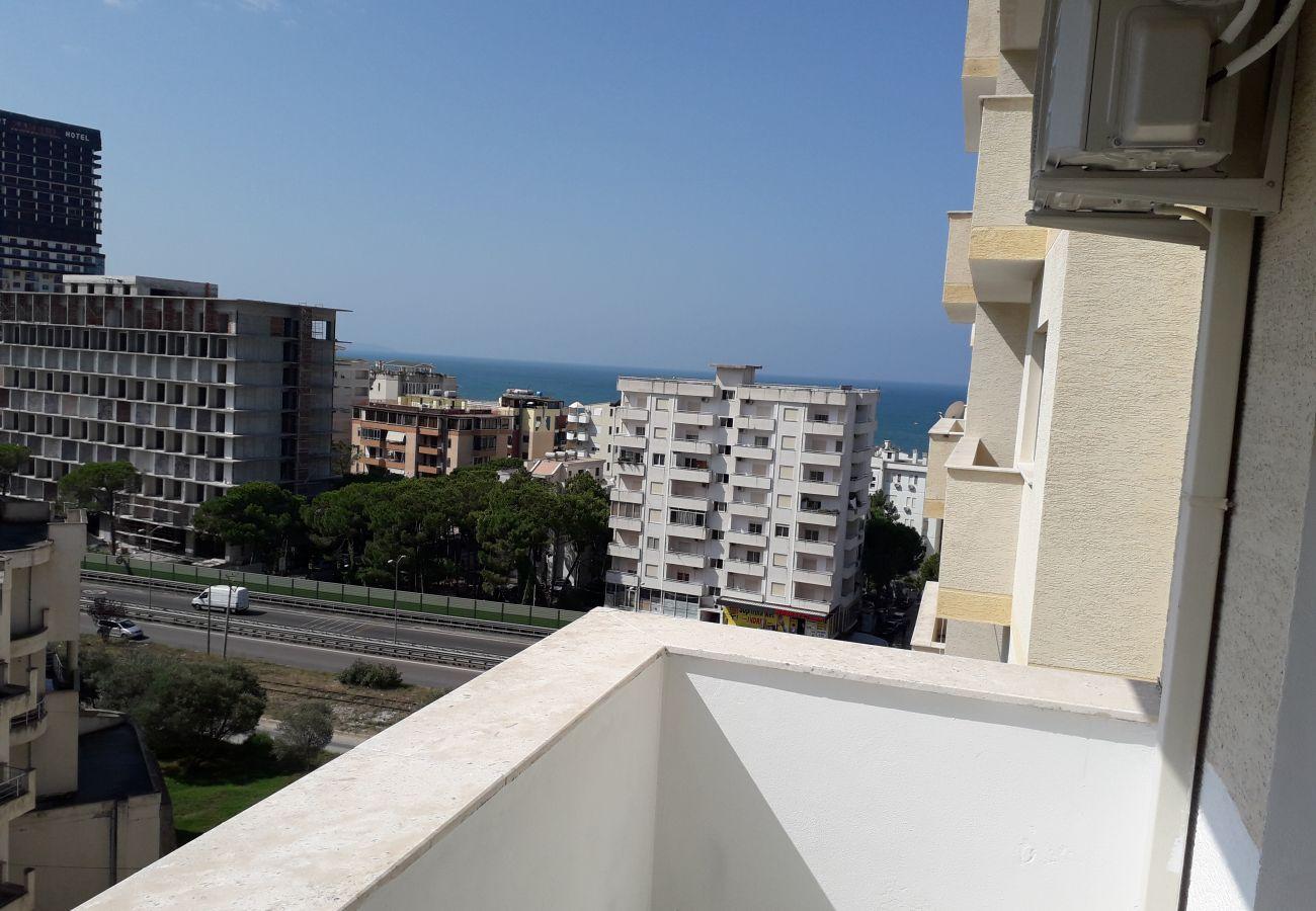 Belle vue depuis le balcon de l'appartement